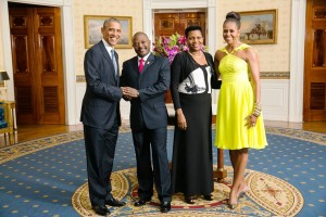 S.E. Nkurunziza Pierre et son épouse Denise - Burundi  et  S.E.  Barack OBAMA et son épouse Michèle  - US  ( Photo :facebook.com/PresidenceBurundi )