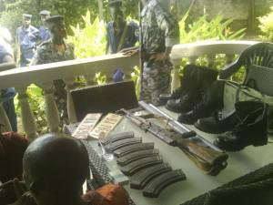 Terroristes à Matana ( Photo: Police Nationale du Burundi)