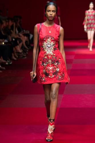 Leila Ndabirabe for Dolce & Gabbana S/S 2015