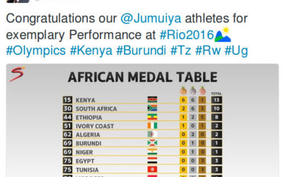 Burundi / RIO 2016 : East African Community - 14 des 45 médailles africaines