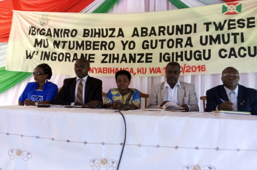 Burundi – dialogue interburundais : Mwaro / Nyabihanga – la mise en place de septennat ( 7ans ) - ( Photo : CNDI 2016 )