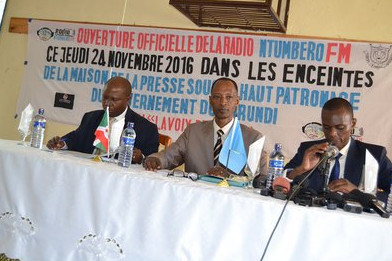 Burundi / Media : Nouvelle radio privée – Radio NTUMBERO FM ( Photo : ABP 2016 )