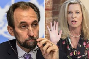 Zeid Raad Al Hussein has blasted Katie Hopkins over her comments (Photo: Getty / Rex)