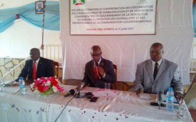 Burundi / Media : La Politique Nationale de Communication ( Photo : RTNB 2017 )
