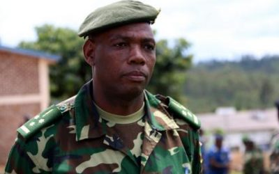le Colonel Barutuza Gaspard , Porte-parole de la Force de Défense Nationale du Burundi FDNB ( Photo :RTNB 2017)