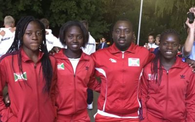 Le Burundi aux 1/4 de final de la Junior Fed Cup de Budapest ( Photo : AKEZA.NET 2017 )