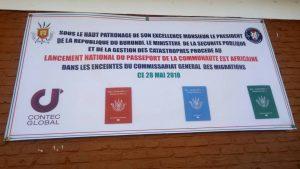 Burundi : Lancement du passeport burundais EAC. ( Photo :IKIRIHO 2018 )