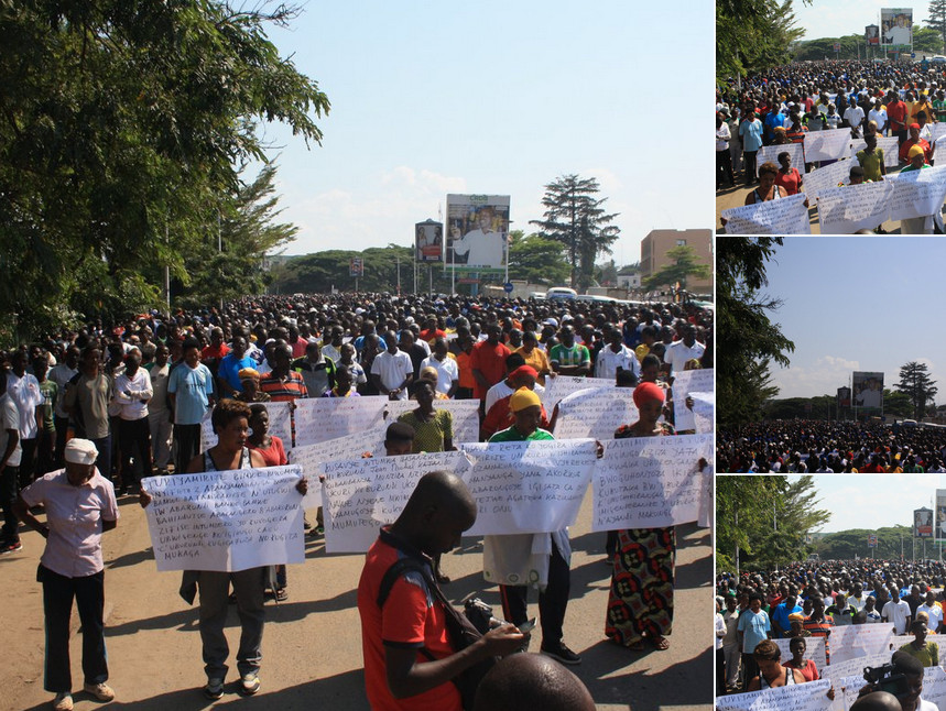 Burundi : - Million Man March - against Doudou Diène U.N. Report ( Photo : IKIRIHO 2018 )