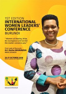 Burundi : Conférence internationale des femmes leaders ( Photo : BUCUMI Denise NKURUNZIZA 2018 )