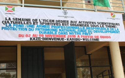 Burundi / AGENDA : Les Sciences, la Culture et le Sport à l'ISCAM du 2 au 8-11-2018 ( Photo : ppbdi.com 2018 )