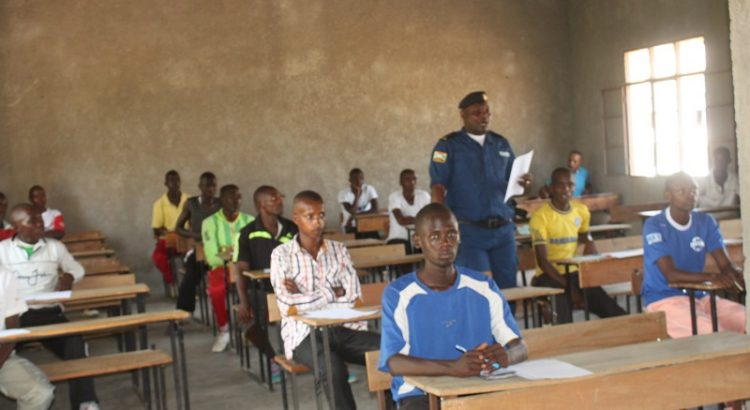 Burundi : 51 candidats policiers au test de recrutement à Bujumbura (Photo : ABP 2018 )