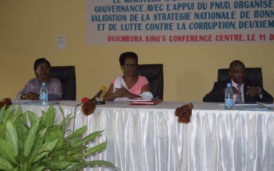 Burundi : Stratégie Nationale de Bonne Gouvernance et de Lutte Contre la Corruption ( Photo : Ministère de la Fonction Publique 2018 )