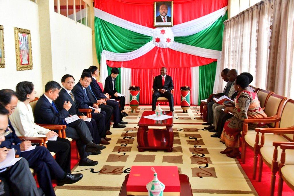 Burundi : Le Président reçoit des parlementaires venus de Chine (Photo : RTNB.bi 2019 )